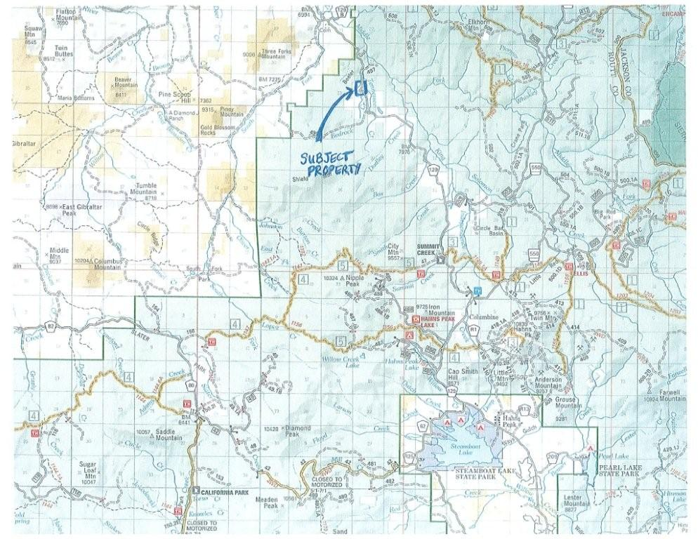 north routt ranch land, routt national forest, routt county hunting land, north routt real estate
