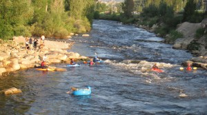 tubing the yampa, steamboat summers